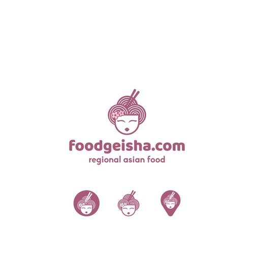 Takeaway design with the title 'Logotype for the foodgeisha,com'