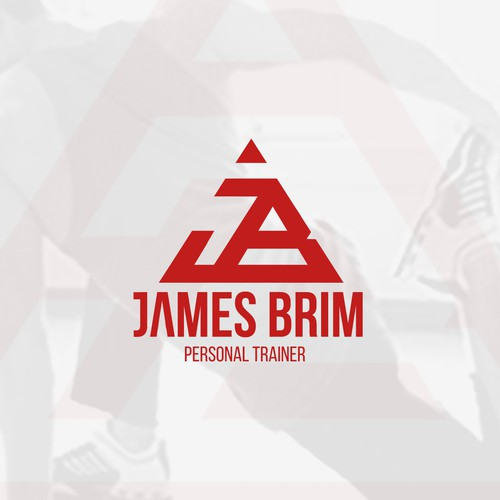 Trainer logo with the title 'James Brim '