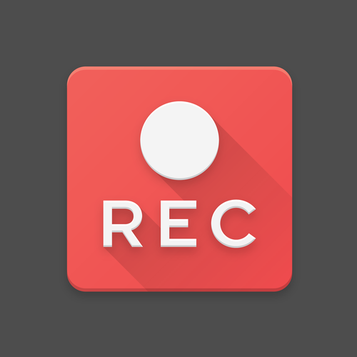 Material design with the title 'Screen Record App Icon'
