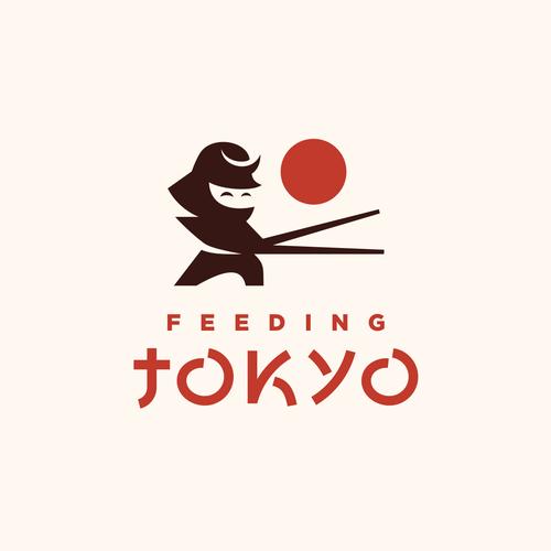 Japanese restaurant design with the title 'Japanese Restaurant'
