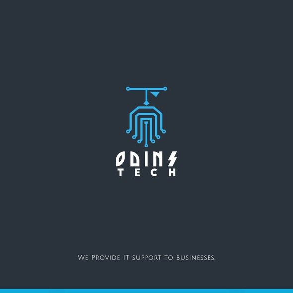 Odin logo with the title 'Logo for IT company'