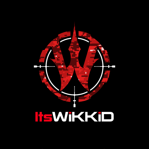 Camouflage logo with the title 'Logo design for ItsWiKKiD'