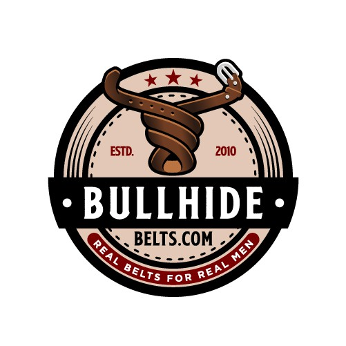 Belt design with the title 'Bold Bull Logo for Company That Sells Leather Belts '