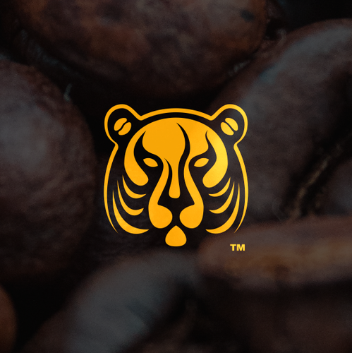 Coffee bean logo with the title 'coffee shop / café'