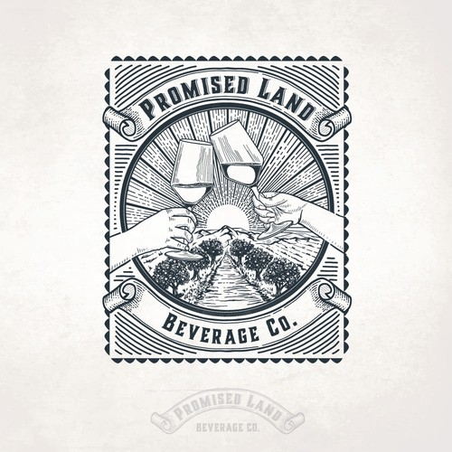 Beverage logo with the title 'Promised Land Cider'