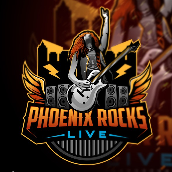 Living logo with the title 'Phoenix Rocks Live'
