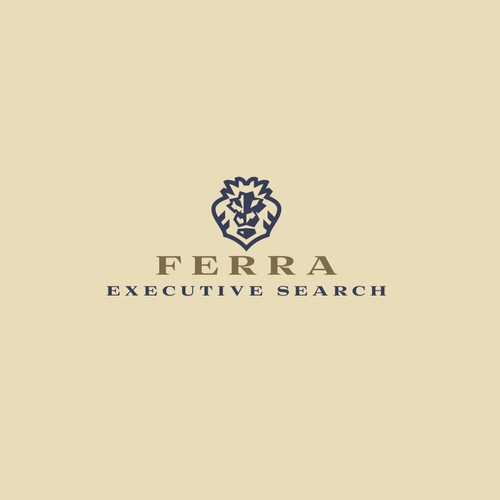 Recruitment design with the title 'Ferra Executive Search - Logotype design'