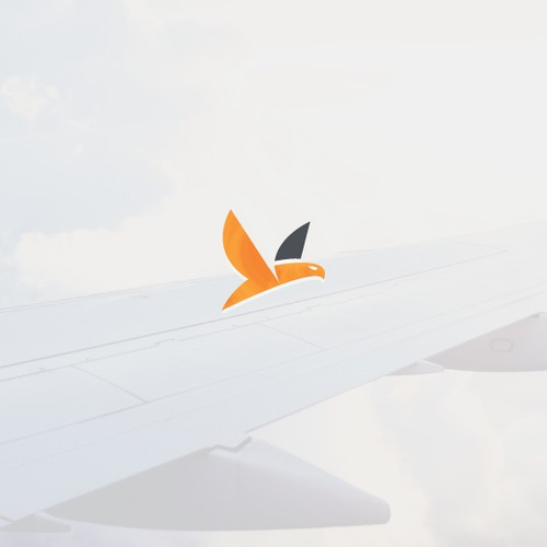 Flat logo with the title 'Minimal aviation logo'