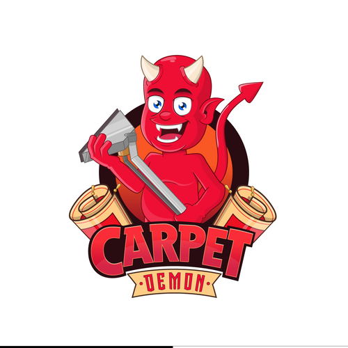 Demon logo with the title 'carpet demon'
