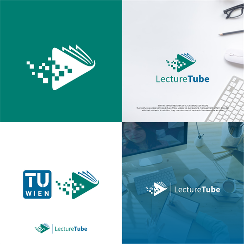 Tube logo with the title 'Logo design concept for Lecture Tube'
