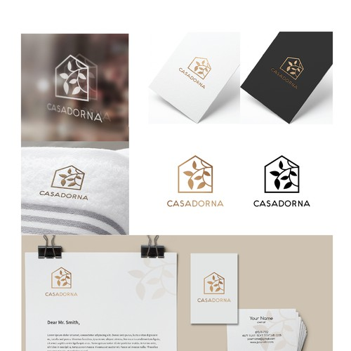 Beautiful brand with the title 'Charming filigree logo for home furnishing'