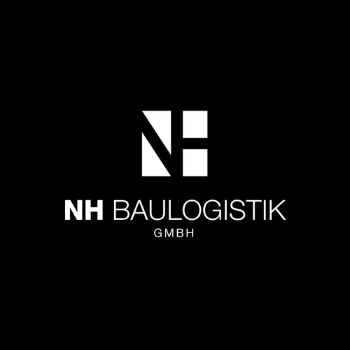 Logistics design with the title 'Logo for NH Baulogistik'