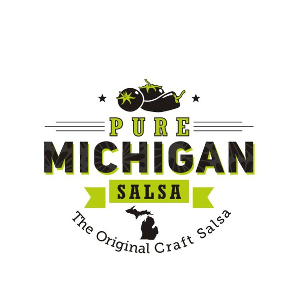 Salsa logo with the title '*** Pure Michigan Salsa needs an incredible new logo *** Help us brand our image!***'