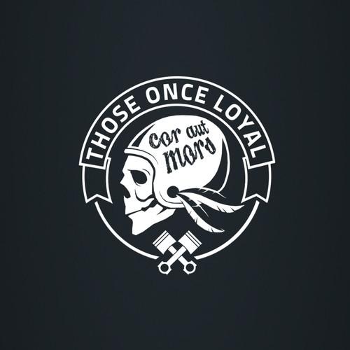 Biker logo with the title 'Bike shop logo'