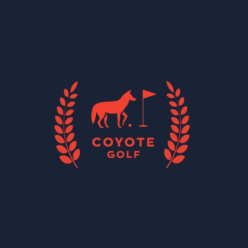 Coyote design with the title 'coyote golf'