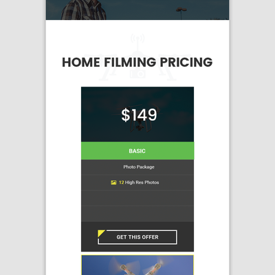 Mobile design for Homepage