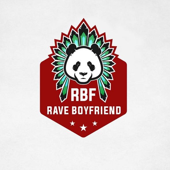 Panda design with the title 'Rave Boyfriend'