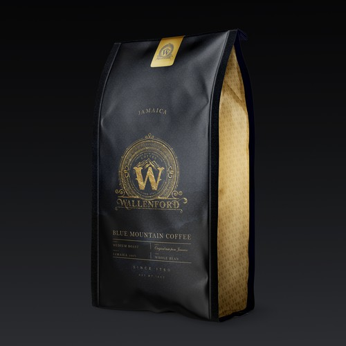 Roasted coffee packaging with the title 'Coffee Bag design'
