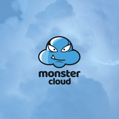Colorful logo with the title 'monster cloud'