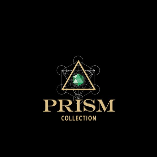 Sacred geometry logo with the title 'Sacred geometry logo for Prism collection'