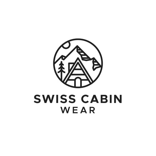 Hut design with the title 'Swiss Cabin'