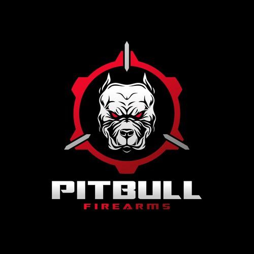 Pitbull logo with the title 'Help Pitfull Firearms launch their brand with a new logo'