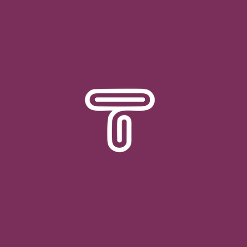T logo with the title 'Lineart minimal logo'