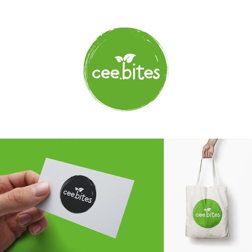 Vegan logo with the title 'cee.bites'