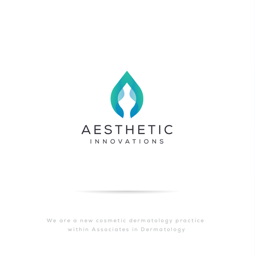 Dermatology logo with the title 'Logo Concept for AESTHETIC INNOVATIONS'