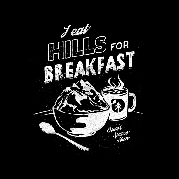 Cereal design with the title 'Hills Breakfasting'