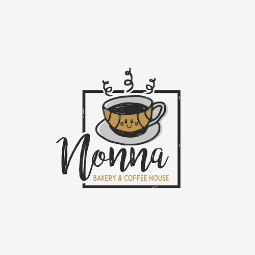 Croissant logo with the title 'NONNA'