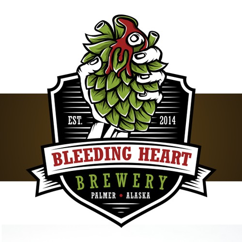 Pen design with the title 'Bleeding Heart Brewery'