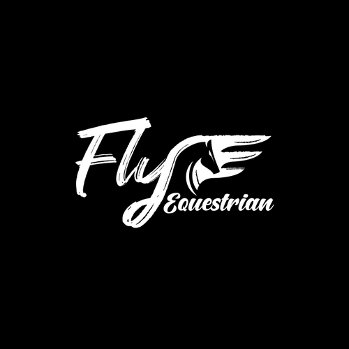 Swing logo with the title 'fly equestrian logo'