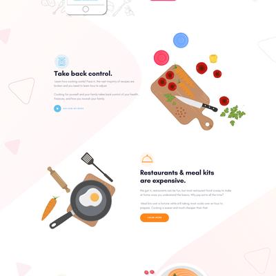 Cooking App Web Design