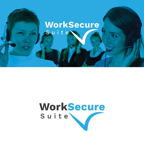 Call center design with the title 'WorkSecure Suite - Call Center Tech Startup Suite'