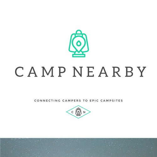 Lantern logo with the title 'campnearby logo'