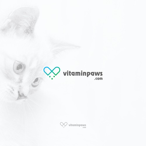 Dog paw logo with the title 'Vitaminpaws'