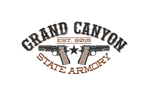 Artillery logo with the title 'Logo design for Grand Canyon State armory'