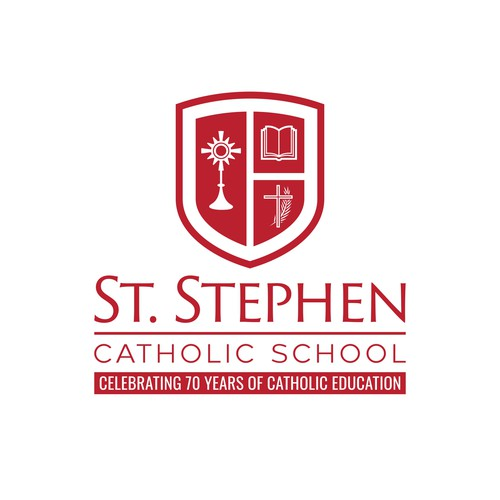 Bible logo with the title 'St. Stephen Catholic School'