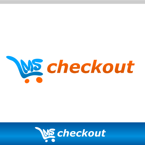 Shopping cart logo with the title 'lmscheckout'