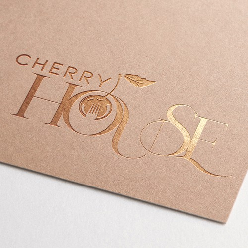 Cherry blossom logo with the title 'Cherry House Logo'