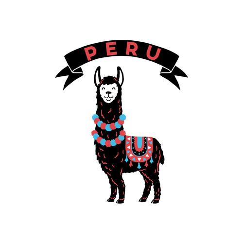 Llama design with the title 'Peru Lama'