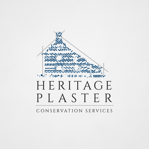 Traditional logo with the title 'Heritage Plaster'