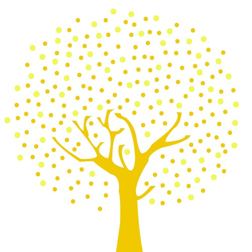 Light illustration with the title 'Logo and tree illustration for Lightmakers: a website for those with a social conscience'