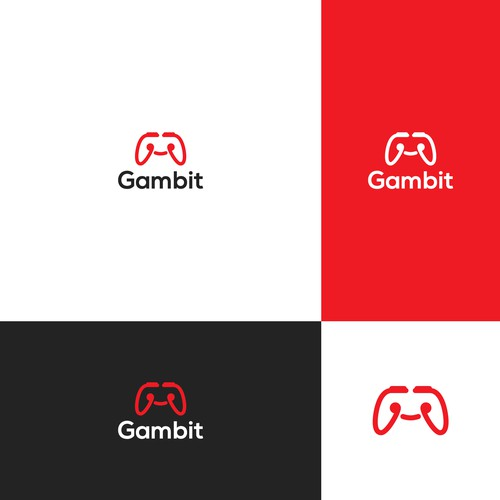 Stick logo with the title 'logo concept for gambit '