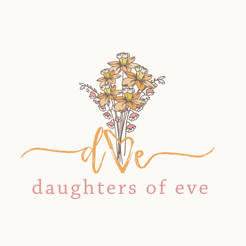 Girl design with the title 'flower bouquet logo '