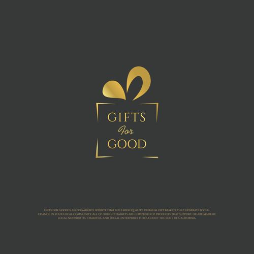 Gift brand with the title 'Logo design'