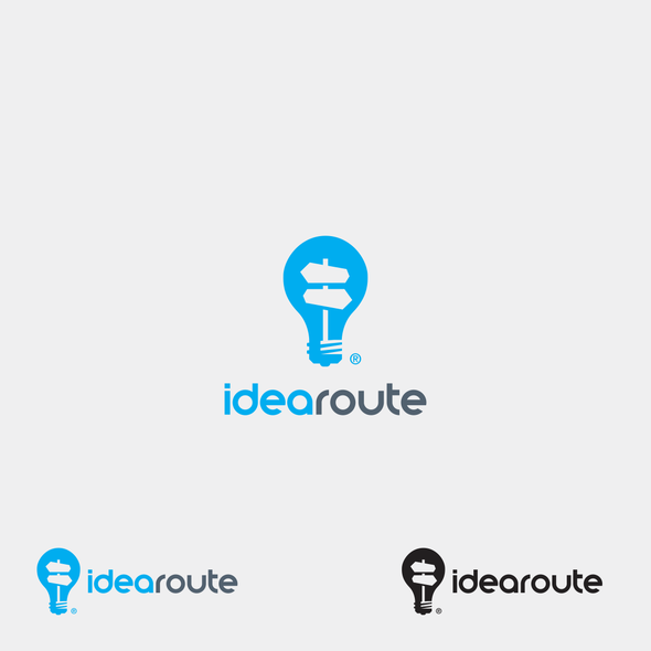 Bright idea logo with the title 'Logo for Company that develops entrepreneurs ideas into reality'