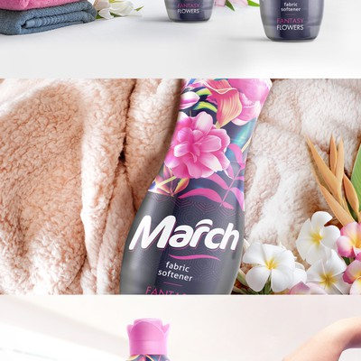 March fabric softener packaging design