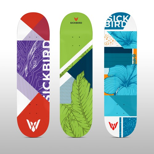Surfboard design with the title 'Skateboard '
